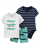3-Piece Alligator Little Short Set