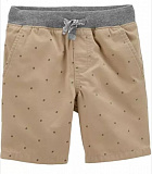 Easy Pull-On Dock Shorts -brown